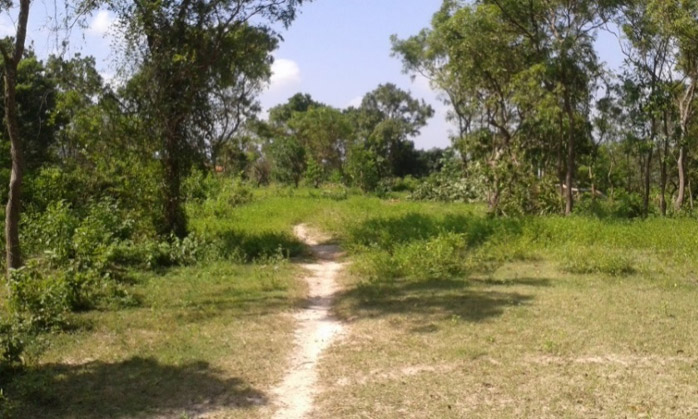 "The ""Fishermen road"" leading to the irrigation tank, before rehabilitation."
