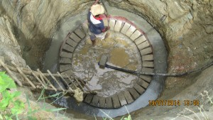 Construction of the new well in progress.