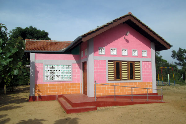 The newly constructed Vivekananda preschool.