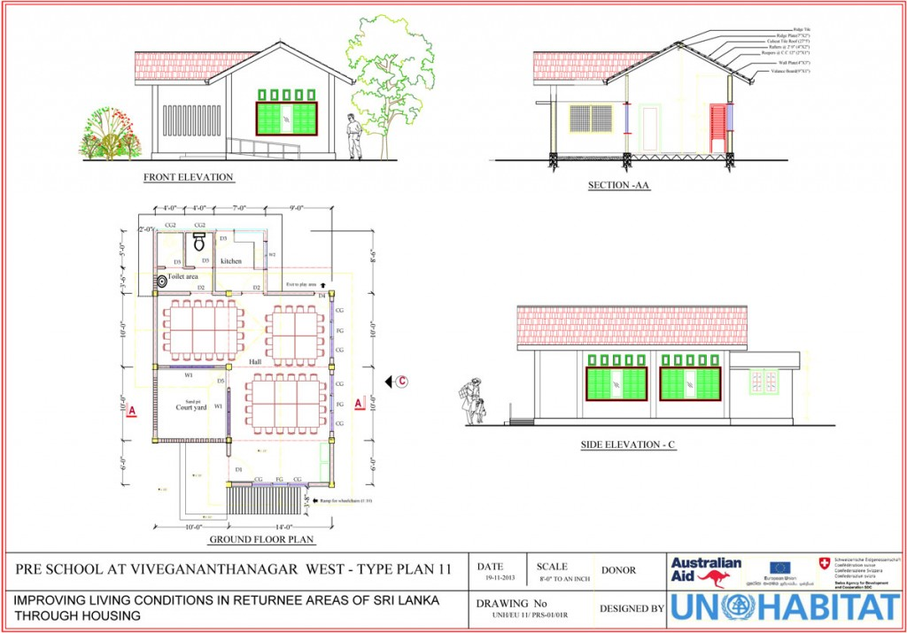 Type plan of the new Vivekananda Preschool