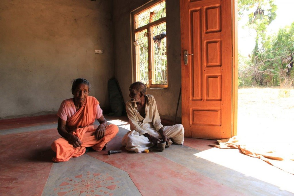 Sivasothi's parents in their new home.