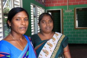 Ms. S. Sivamani – one of the preschool teachers and Ms. G. Viyaja, the Treasurer of the Preschool Management Committee.